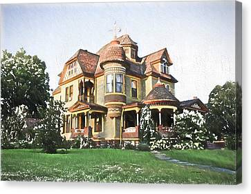 Victorian House Canvas Print by Ericamaxine Price