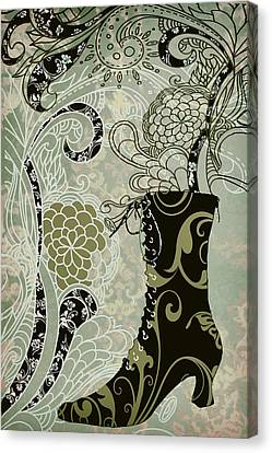 Victorian Lady's Boot Canvas Print by Mindy Sommers