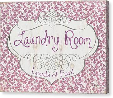 Textile Canvas Print - Victorian Laundry Room by Debbie DeWitt
