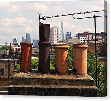 Victorian London Chimney Pots Canvas Print by Rona Black