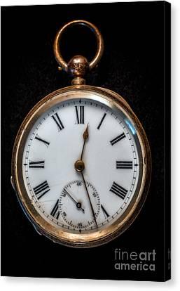 Victorian Pocket Watch Canvas Print by Adrian Evans