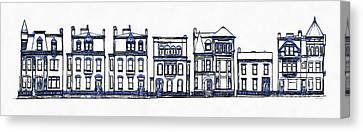 Victorian Row Houses Canvas Print