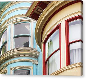 Victorian San Francisco Canvas Print by Cheryl Del Toro