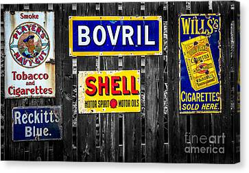 Victorian Signs Canvas Print by Adrian Evans
