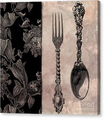 Victorian Table IIi Canvas Print by Mindy Sommers