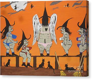 Victoria's Secret Witches Canvas Print