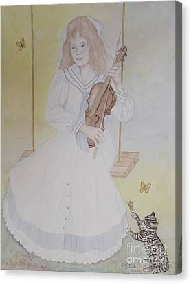 Victoria's Violin Canvas Print