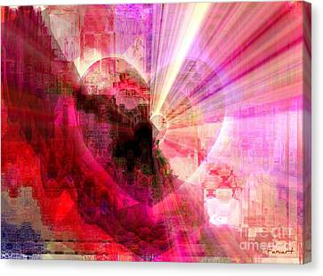 Canvas Print featuring the digital art Victorious Heart by Fania Simon