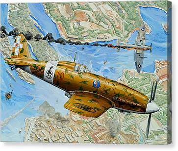Victory Over Malta Canvas Print by Charles Taylor