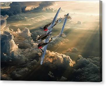 Vintage Aircraft Canvas Print - Victory Roll by Peter Chilelli