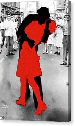 Times Square Canvas Print - Victory by Tony Rubino