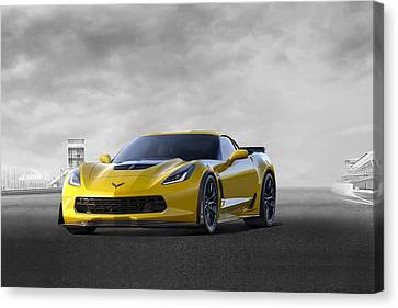 Victory Yellow  Canvas Print by Peter Chilelli