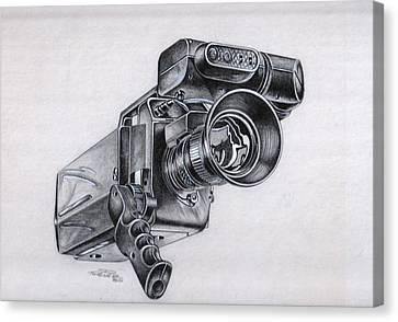Video Camera, Vintage Canvas Print