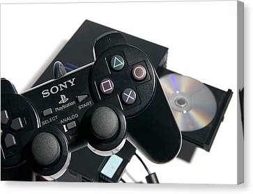 Video Game Console Canvas Print by Johnny Greig