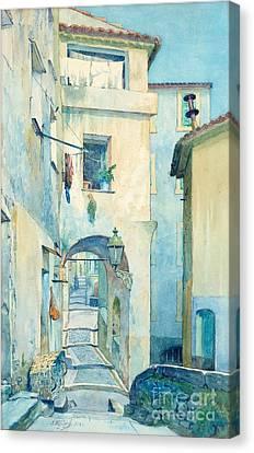 Vieille Ville Menton Canvas Print by MotionAge Designs