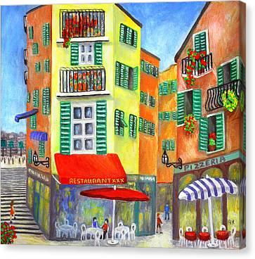 Vieille Ville - Nice Canvas Print by Ronald Haber