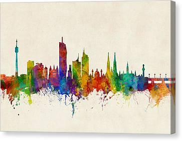 Vienna Austria Skyline Canvas Print by Michael Tompsett