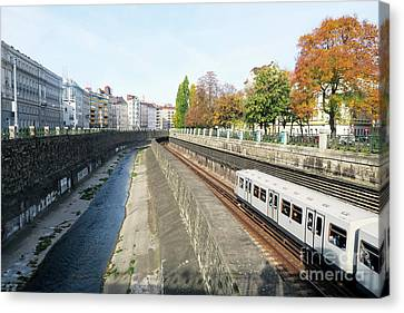 Vienna Canal Canvas Print by Christian Slanec
