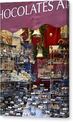 Vienna Chocolatier Shop Canvas Print by David Birchall