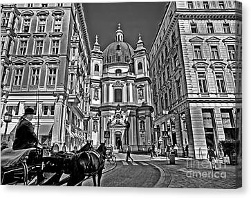 Vienna Scene Canvas Print by Madeline Ellis