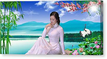 Viet Nam Girl Canvas Print by An hy Quach hong