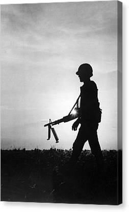 Vietnam Training Exercise Canvas Print by Underwood Archives
