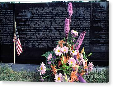 Vietnam Veterans Memorial On Memorial Day Canvas Print by Thomas R Fletcher