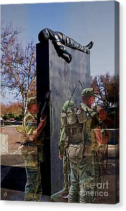 Vietnam Veterans Memories - In Oil Canvas Print