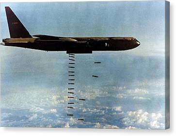 Vietnam War. A B-52 Drops Christmas Canvas Print