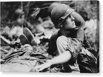 Tntar Canvas Print - Vietnam War. Army Medic Searches by Everett
