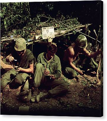 Vietnam War. Home Is Where You Dig Canvas Print by Everett