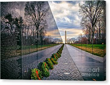Vietnam War Memorial, Washington, Dc, Usa Canvas Print by Sam Antonio Photography