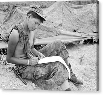 Vietnam War. Private First Class Joseph Canvas Print by Everett