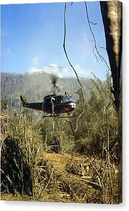 Vietnam War, South Vietnam, A Uh-1d Canvas Print by Everett