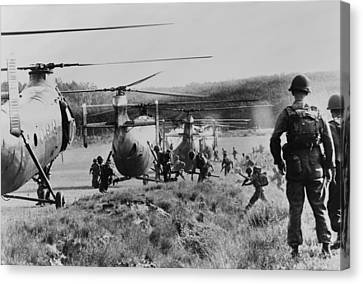 Vietnam War. South Vietnamese Troops Canvas Print