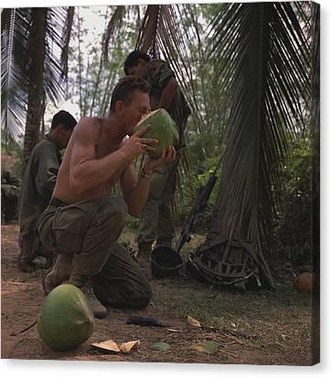 Vietnam War. Us Army Sergeant , Takes Canvas Print