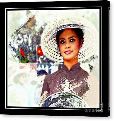 Vietnamese Culture Fashion Canvas Print by Ian Gledhill