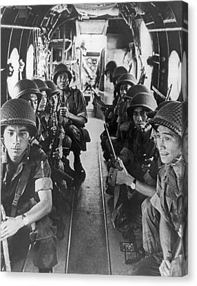 Vietnamese Paratroopers Canvas Print by Underwood Archives