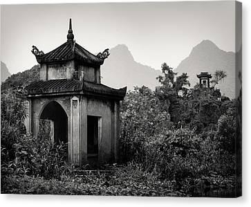 Buddhist Canvas Print - Vietnamese Shrine by Dave Bowman