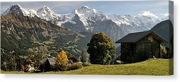 Wengen Canvas Print - View Across Lauterbrunnen Valley by Panoramic Images