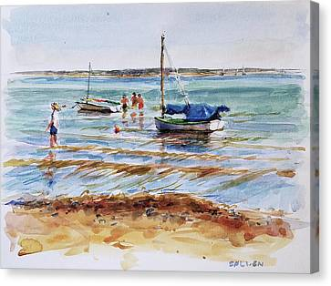 View Across Provincetown Harbor Canvas Print by Peter Salwen