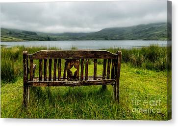 View Across The Lake Canvas Print by Adrian Evans