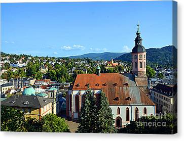 View At Baden-baden With Collegiate Church, Germany Canvas Print