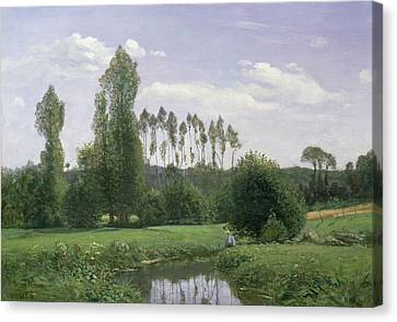 View At Rouelles Canvas Print by Claude Monet