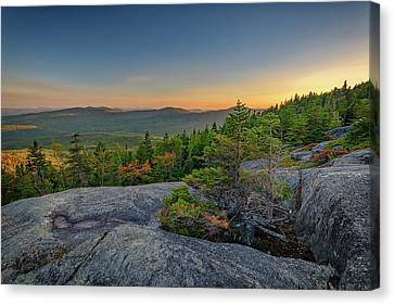 Maine Mountains Canvas Print - View At Sunset From Tumbledown Mountain by Rick Berk
