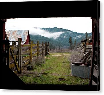 View From A Barn Canvas Print