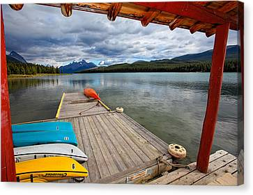 View From A Boathouse Canvas Print by George Oze