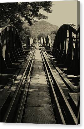 View From A Bridge - River Kwai Canvas Print by Kelly Jones