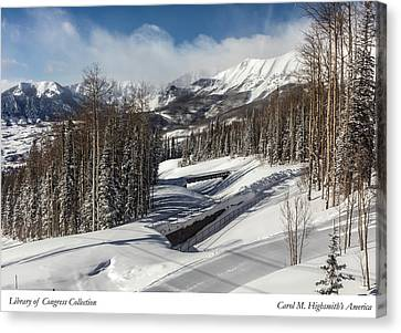 Canvas Print featuring the photograph View From A Mountain Above Telluride In Colorado by Carol M Highsmith