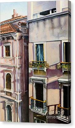 Canvas Print featuring the painting View From A Venetian Window by Marlene Book